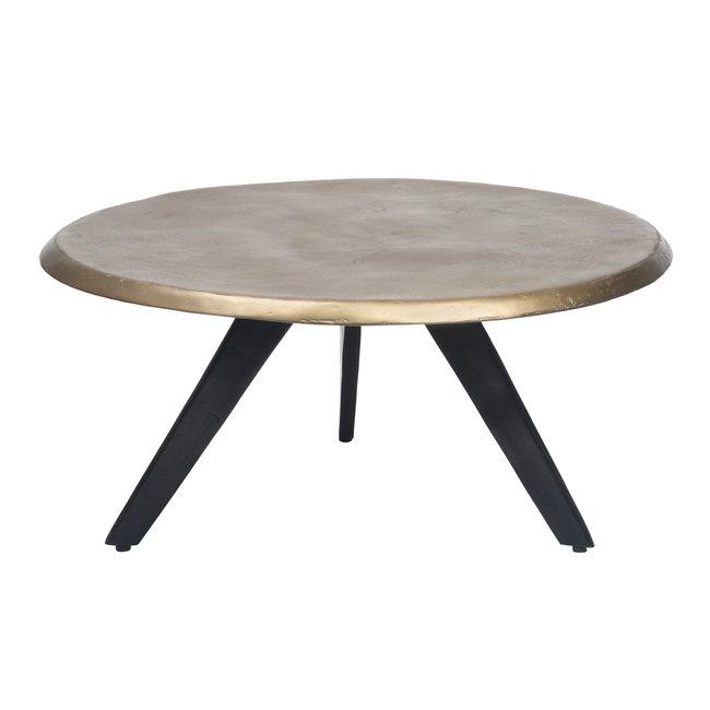 Cosimo brass aluminium coffee table round L