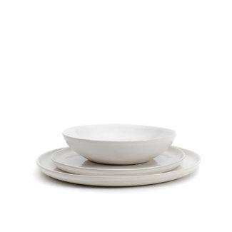 Simla Diner set steengoed gebroken wit 4+4+4