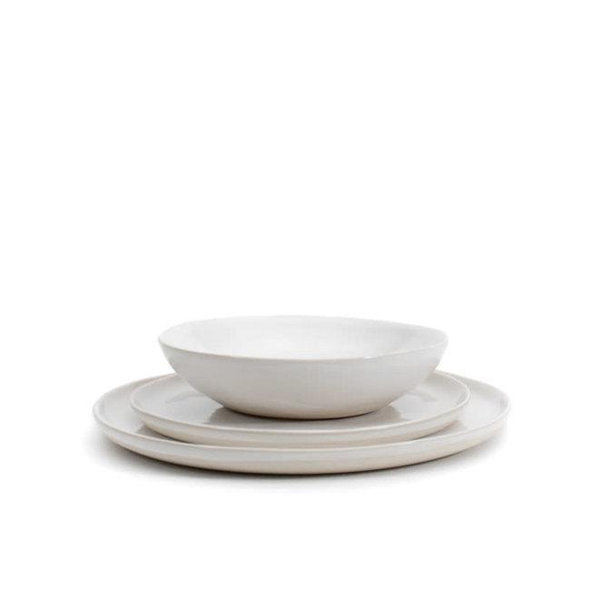 Diner set steengoed gebroken wit 4+4+4