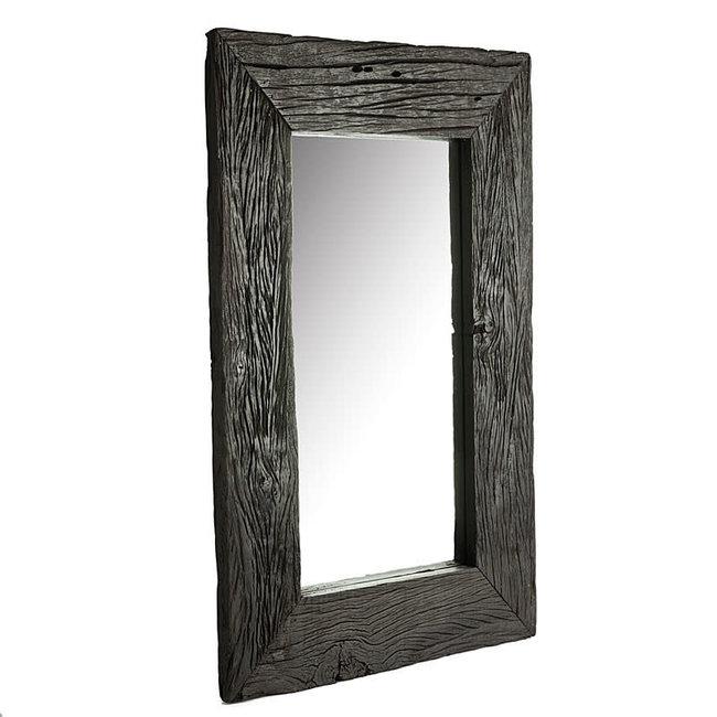 Simla spiegel  gerecycleerd hout zwart hout 90x180 cm