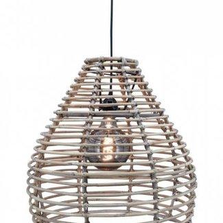 Marckdael hanglamp grey ratan bolzano smal D45H45