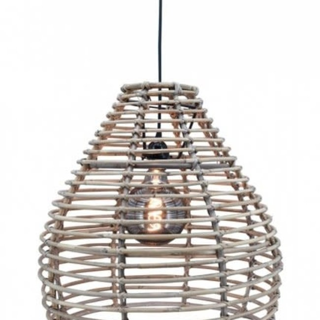 hanglamp grey ratan bolzano smal D45H45