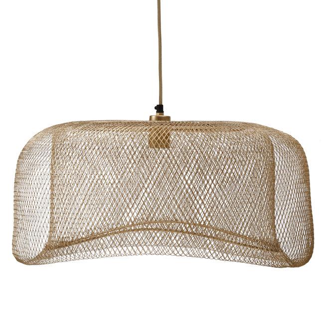 Belton gold mesh iron hanging lamp round