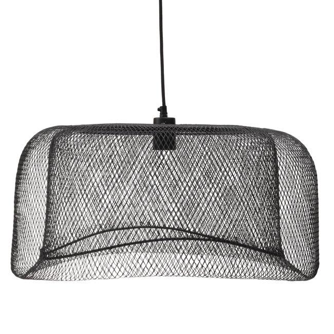 Belton Black mesh iron hanging lamp round