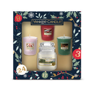Yankee Candle Giftset countdown to Christmas 1 small jar & 3 votives