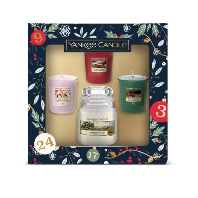 Giftset countdown to Christmas 1 small jar & 3 votives