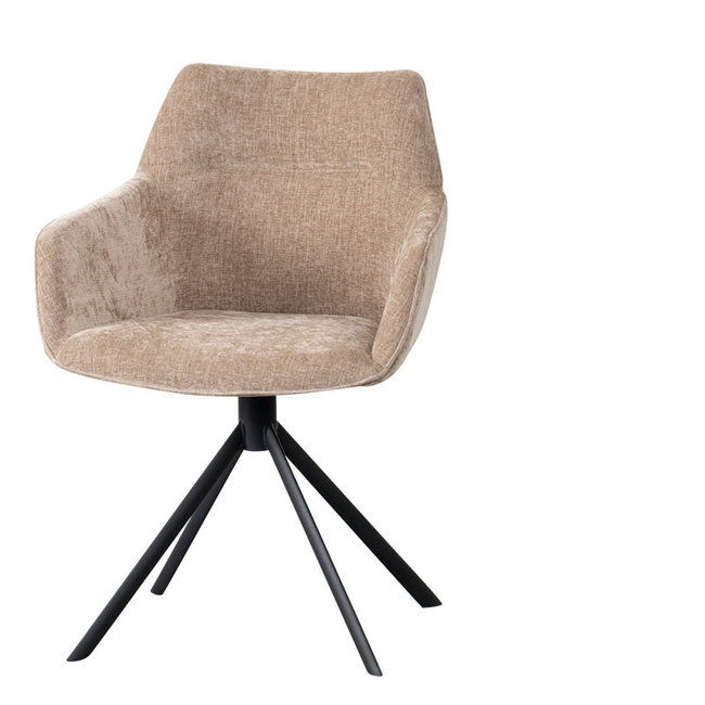 Johnson rotating dining chair crown sand