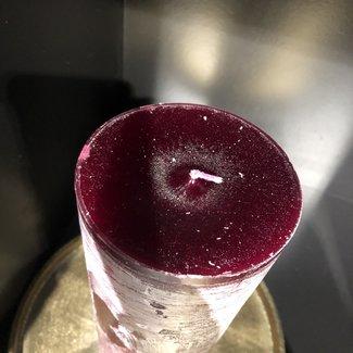 Dekocandle Cylinder candle dia 8,6x 20 cm Elderberry 81