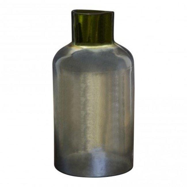 Cabana grey glass bottle l