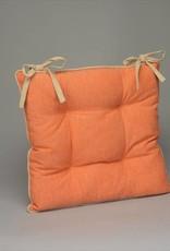 chaircushion peachy red/beige per stuk