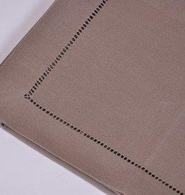 Tafelnap 150x250 dark taupe hemstitch