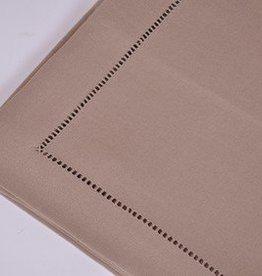 Tafelnap 150x250 beige w/ hemstitch