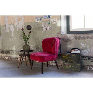 Dutchbone lounge chair smoked red