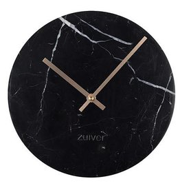 Clock marble time black