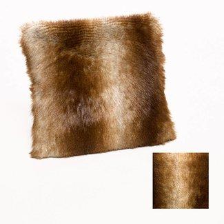 Kussensloop fake fur peacock 45x45