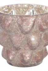 christmas groves  brown glass tealight s