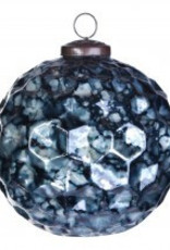christmas dented blue glass ball s