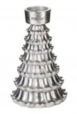 christmas candletree aluminium rough S