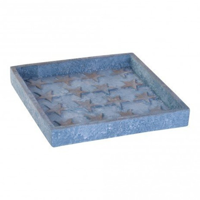 christmas plate star cement square s