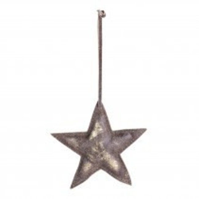 christmas leather copper hanging star