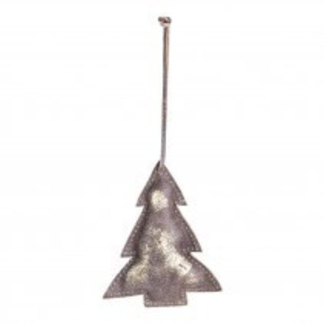 christmas leather copper hanging tree