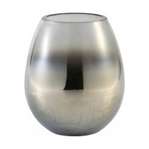 budoir silver glass vase crackle top s