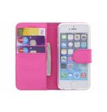 Wallet TPU Booklet iPhone 5 / 5s / SE - Fuchsia
