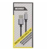 Fast Charging Micro-USB naar USB-kabel 1 meter - Zwart