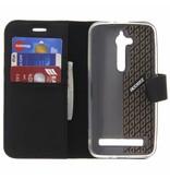 Wallet TPU Booklet Asus Zenfone Go - Zwart