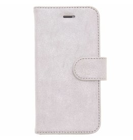 Glitter Wallet TPU Booklet iPhone 8 / 7 - Silver