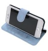 Glitter Wallet TPU Booklet iPhone 8 / 7 - Blauw
