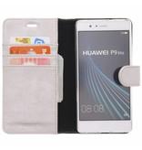 Glitter Wallet TPU Booklet Huawei P9 Lite - Silver