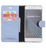 Glitter Wallet TPU Booklet Huawei P9 Lite - Blauw