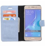 Glitter Wallet TPU Booklet Samsung Galaxy J5 (2016) - Blauw