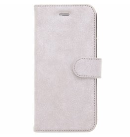 Glitter Wallet TPU Booklet iPhone 6(s) Plus - Zilver