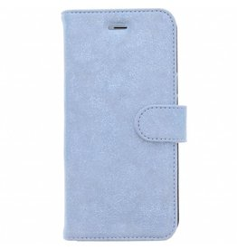 Glitter Wallet TPU Booklet iPhone 6(s) Plus - Blauw
