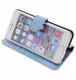Glitter Wallet TPU Booklet iPhone 6(s) Plus - Blauw