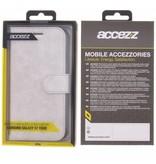 Glitter Wallet TPU Booklet Samsung Galaxy S7 Edge - Zilver