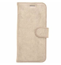 Glitter Wallet TPU Booklet Samsung Galaxy S7 Edge - Gold
