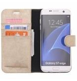 Glitter Wallet TPU Booklet Samsung Galaxy S7 Edge - Goud