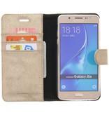 Glitter Wallet TPU Booklet Samsung Galaxy J5 (2016) - Goud