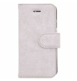 Glitter Wallet TPU Booklet iPhone 5 / 5s / SE - Silver