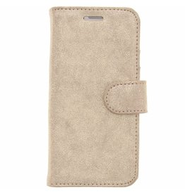 Glitter Wallet TPU Booklet Samsung Galaxy S7 - Goud