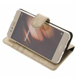 Glitter Wallet TPU Booklet Huawei P10 Lite - Goud