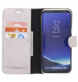 Glitter Wallet TPU Booklet Samsung Galaxy S8 Plus - Zilver