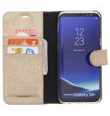 Glitter Wallet TPU Booklet Samsung Galaxy S8 Plus - Gold