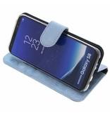 Glitter Wallet TPU Booklet Samsung Galaxy S8 Plus - Blauw