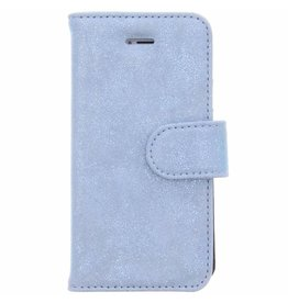 Glitter Wallet TPU Booklet iPhone 5 / 5s / SE - Blauw