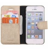 Glitter Wallet TPU Booklet iPhone 5 / 5s / SE - Gold
