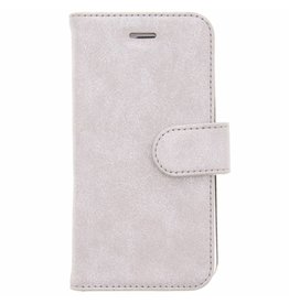 Glitter Wallet TPU Booklet iPhone 6 / 6s - Silver